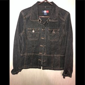 French Kuff Womens Jean Jacket Blue Buttons M